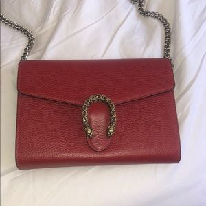 Red Gucci Dionysus cross body